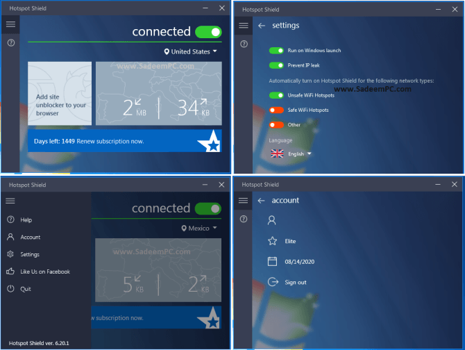 Hotspot Shield VPN Elite 10.21.2 Crack With License Key Free Download